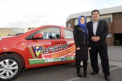 Learner driver Tabasum Mohammadi with instructor Mohammad Abbasi. 125223 Picture: ROB CAREW