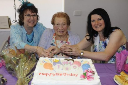 Win Wilson with her daughter Sue and her granddaughter Jane. 128740 Pictures: STEWART CHAMBERS