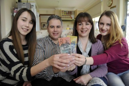 The Gowers - Megan, Darren, Wendy and Jessica - have become an overnight sensation after sharing their scrupulous saving tips with the country. 122949 Picture: STEWART CHAMBERS