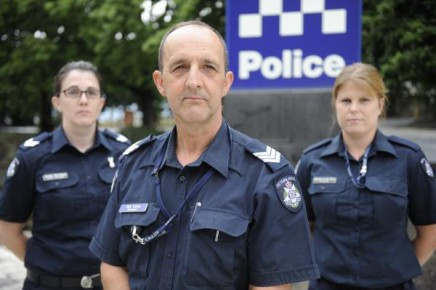 Senior Constable Jacqui Henriksen, Sergeant Ian Lane and Constable Natascha Van Den Brink work in the Casey Family Violence Unit. 131291 Picture: STEWART CHAMBERS