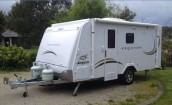 Police are searching for this caravan, which was stolen from outside a Berwick property.