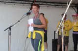 Co-Chair Karen Ryken welcomes everyone at the 2014 Casey Relay For Life. 116611 Picture: DONNA OATES