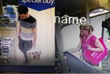 CCTV footage of a man and a woman in an Endeavour Hills supermarket in June. They are wanted to help a police investigation into a series of thefts and deceptions.